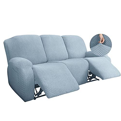 Elastico Ispessimento Assessore all-Inclusive Sedia Cover Tessy Sofa Copertura reclinata, Copertura di Divano Elasticizzato Rivestire Protezione per mobili Elastici,Light Blue 3,1