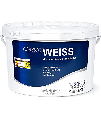 Wandfarbeweiss Innenfarbe hohe Deckkraft Klasse 1 - 10 Liter versandsicher verpackt