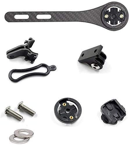 QIKU Soporte para computadora de Bicicleta de Fibra de Carbono para odómetro, cámara y luz, Compatible con Garmin Edge 200, 500, 510, 800, 810 y 1000 IGPSPORT(Mat)