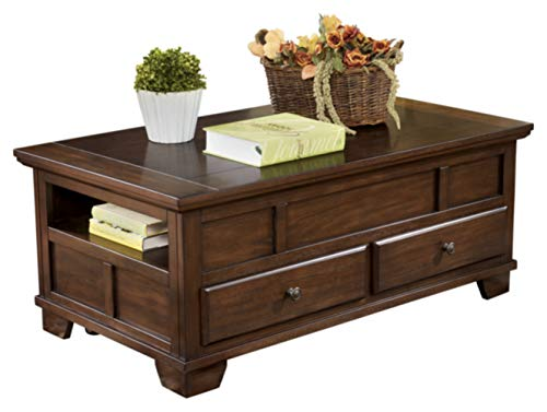 Medium Brown Lift Top Coffee Table