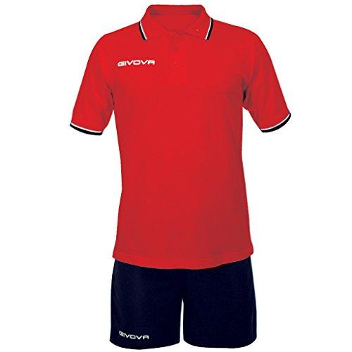Givova Street Kit Calcio Unisex - Adulto, Multicolore (Rosso/Blu), XL