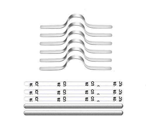 ノーズブリッジ マスク用 ノーズワイヤー フレキシブルノーズクリップ フェイスマスク ノーズストリップ 粘着 フラットメタル アルミニウム 300個