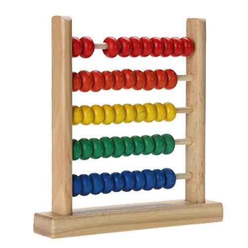 Amasawa Ábaco de Madera,Abacus Juguete de Madera Clásico,Cuentas de Conteo,Adecuado para Juguetes de Educación Temprana para Niños, Desarrollo Intelectual