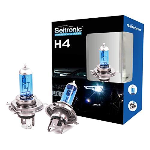 Preisvergleich Produktbild Xenon Style Lampen Halogen-Scheinwerferlampe,  Xenon Look Lampen Weiss,  Xenon Style Birnen Brenner,  Xenon Blue HID Lampen - Halogen Xenon Lampen (H4 60 / 55Watt)