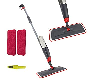 VENETIO Premium Spray Mop Floors Cleaning with 2 Reusable Microfiber Pad 360 Degree Rotation Joint for Home Kitchen Hardwood Laminate Wood Ceramic Tiles Floor Cleaning  700ml