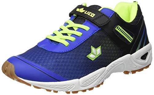 Lico BARNEY VS Unisex Kinder Multisport Indoor Schuhe, Blau/ Schwarz/ Lemon, 39 EU