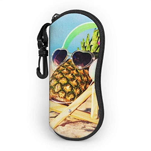 Funda suave para gafas de sol, bolsa de protección portátil ultraligera con clip para cinturón, piña niña