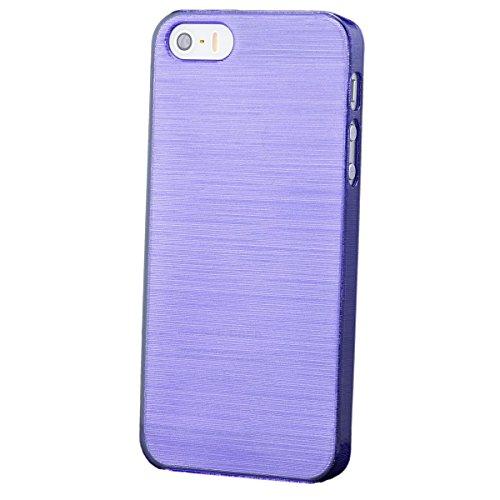 Apple iPhone SE / 5S / 5   iCues Hard Candy Hülle Lila   [Bildschirm Schutzfolie Inklusive] Schutzhülle Hülle Cover Schutz