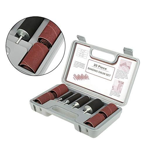 Spindel Schleif Trommelschleifer Werkzeugsatz mit Koffer für Bohrmaschine, 20-tlg