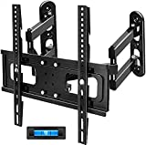 Corner TV Wall Mount FOZIMOA Full Motion TV Mount Bracket for Most 32-50 inch Flat TVs with Dual Articulating Arm Tilt Swivel up to 77 lbs Max VESA 400x400mm HDMI Cable Ties Level Included