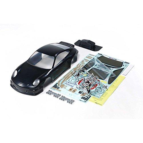 TAMIYA 47365 Karosserie-Satz Porsche 911 GT3 Cup lackiert, schwarz