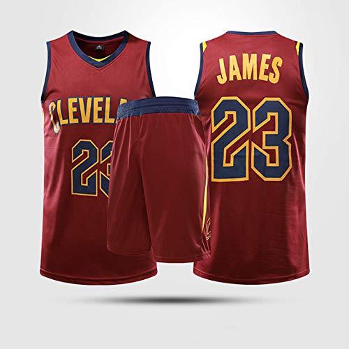 Jerseys De Baloncesto para Hombres, NBA Cleveland Cavaliers # 23 Lebron James - Niño Adulto Classic Sport Ropa Sin Mangas Camiseta Sin Mangas, Confort Tops Tops Uniformes Set,XL(Child) 145~155CM