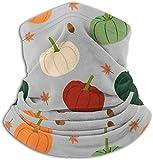 fuyon Fleece Neck Warmer Gaiter Autumn Pumpkins Soft Microfiber Headwear Face Scarf Mask for Winter Cold Weather & Keep Warm for Mens Womens