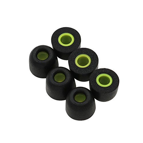 ALXCD Ear Tip Foam for Jaybird X3 X2 X Earphone, Medium Size 3 Pairs Soft Noise-Isolation Memory Foam Replacement Earbud Tips, Fit for Jaybird X3 X2 X Earphone Bluebud Foam Tip X3 [M-3 Pair]