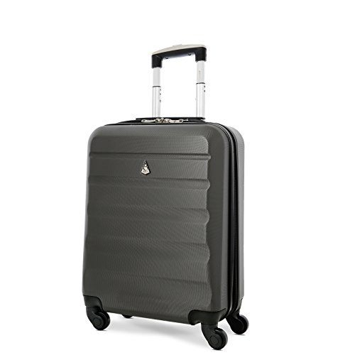 Aerolite 55x40x20 Ryanair/Vueling Maximum Size 40L Lightweight Hard Shell Carry On Hand Cabin Luggage Suitcase with 4 Wheels