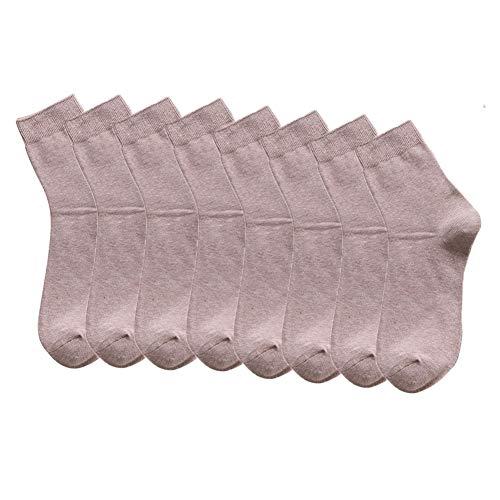 LVYY Sock Mannen Herfst En Winter Katoen Effen Kleur Midden Buis Jurk Sokken 8 Pairs