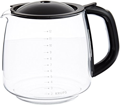 KRUPS F15B0G Coffee Carafe for Any KRUPS FME Series, 12-Cup, Black