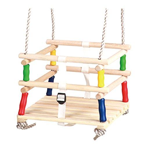 LHIKS Wooden Baby / Toddler / Childs Garden Outdoor Swing Seat