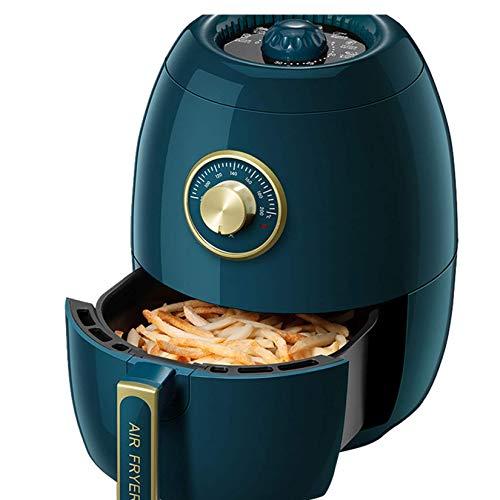BBZZ Freidora de aire 3L 1350W freidora eléctrica ajustable Timing Cake Fries Cocina de inducción, horno de aire caliente multifuncional