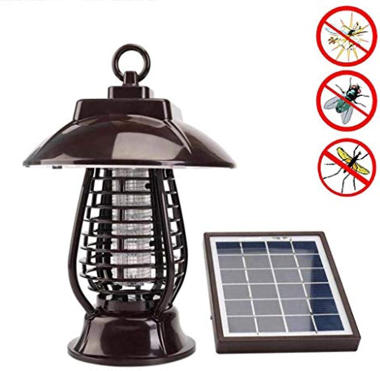 Outdoor Solarlampe Insektenvernichter Elektrisch UV LED Insektenlampe Ungiftig Keine Strahlung Solar Moskito-Killer-Lampe mit USB-Ladeanschluss Solar Gartenlampe
