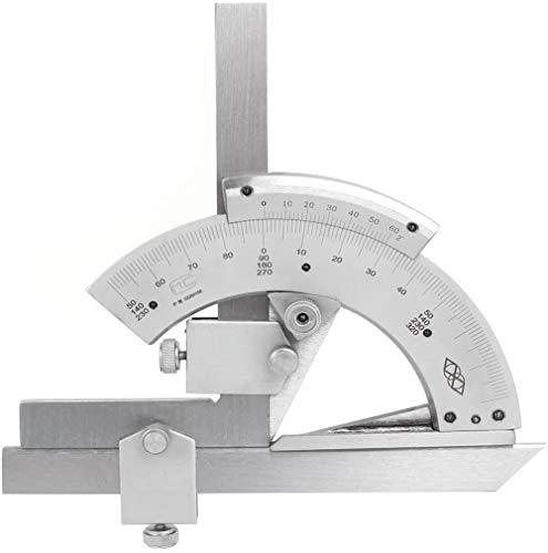eoocvt 0-320° Universal Stainless Steel Vernier Bevel Protractor,Angle Finder for Woodworking, Carpenter, Construction, DIY Precision Angle Measuring Finder Ruler Tool