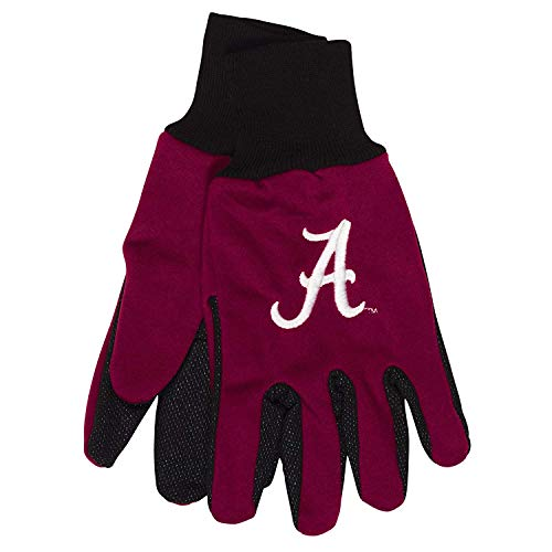 SLW Alabama Crimson Tide Utility Gloves with Official NCAA Logo and Colors