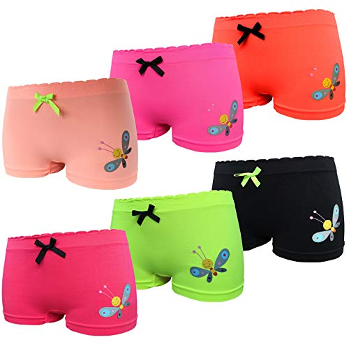 Bixtra 6er Pack Mädchen Pantys Unterhose Kinder Slip Unterwäsche Seamless Größe 110-152 (134-140, Set4 6er Pack)