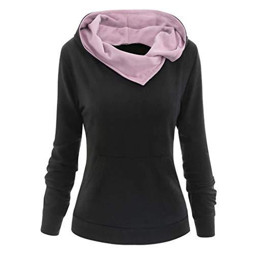 GreatestPAK Totenkopf Schmetterling Druck Kapuzenpullover Damen Freizeit Hoodie Sweatshirts Taschen Langarm Rundhals Tops Hemden T-Shirts,Rosa,5XL (Büste:130cm)