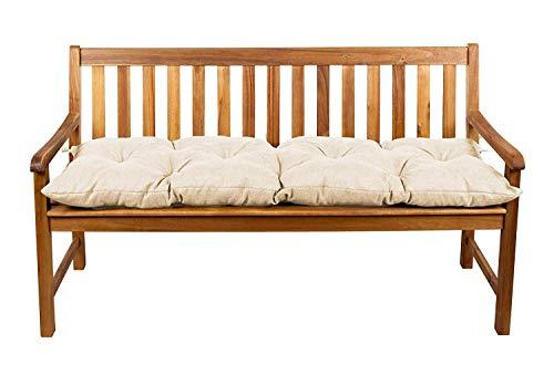 Coussins pour banc, coussins pour balançoire de jardin, siège LS (110x50, Crème 6)