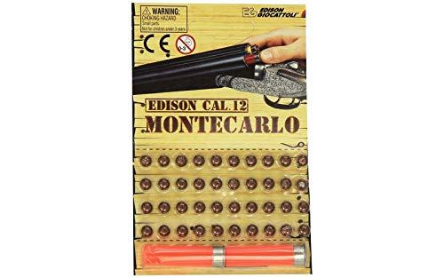 Edison 504041 - Cartucce Ricarica per Fucile Montecarlo, 40 Colpi