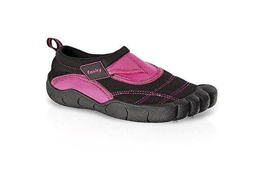 fashy® Kinder Aqua-Schuh aus Neopren mit Klettverschluss und TPR-Sohle 34 Pink/Schwarz - (7491-43)