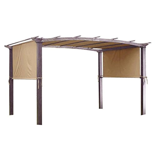 Yescom 17x6.5 Ft Universal Canopy Cover Replacement for Curved Pergola Structure Beige
