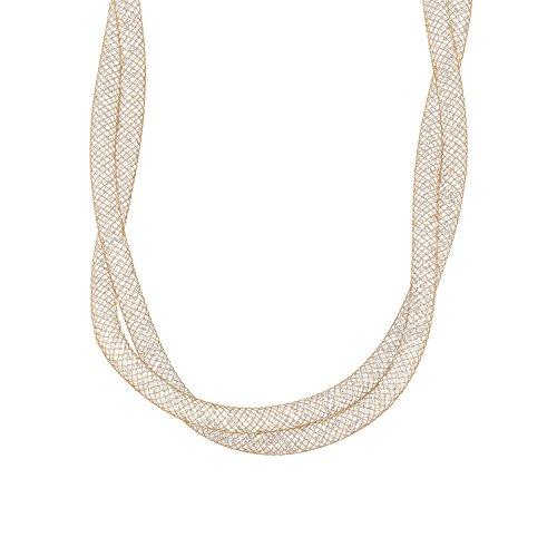 NOELANI Damen-Kette 42+3cm Mesh veredelt mit Kristallen von Swarovski Edelstahl IP Rose Beschichtung