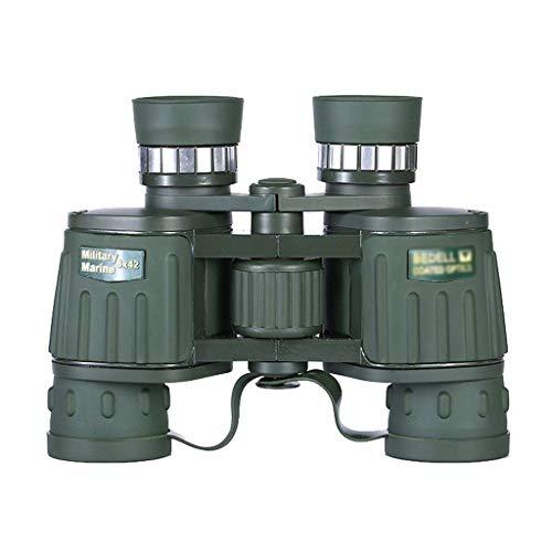 Telescopio, binoculares 8X42, microscopio de Aumento, anteojos ópticos de Mano, Espejos Exteriores, telescopio a Prueba de Agua y Humedad y Vida Principiantes y niños