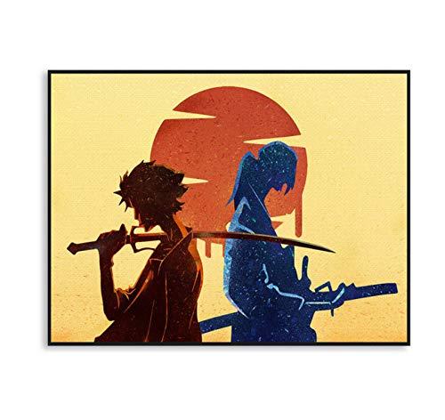 NVRENHUA Samurai Champloo Anime Poster Boy Dormitorio...