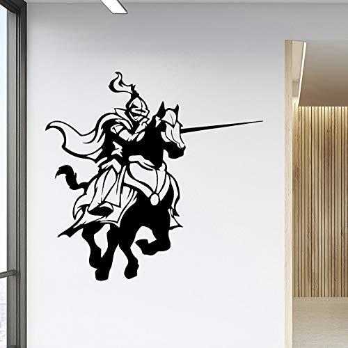 Pegatina de pared de fondo de casa de niños de papel de vinilo Vintage Knight