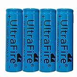 4 pcs 18650 Batería de Litio Recargable 3.7V 4000mAh Baterías de botón de Gran Capacidad para Linterna LED, iluminación de Emergencia, Dispositivos electrónicos, etc,18x65mm