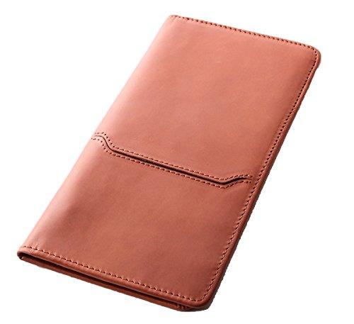 [Boosters] ブースターズ ロングパスポートケース 革 本革 航空チケット入れ パスポートカバー 財布 キャメル