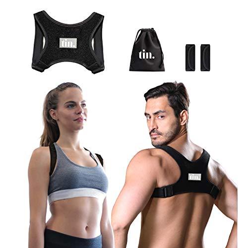 Haltungskorrektur Geradehalter Rückenhalter Rückentrainer Haltungstrainer Rückenbandage, gegen Rückenschmerzen und Nackenschmerzen, Damen und Herren, Größer XS-M,L-XXL (L-XXL)