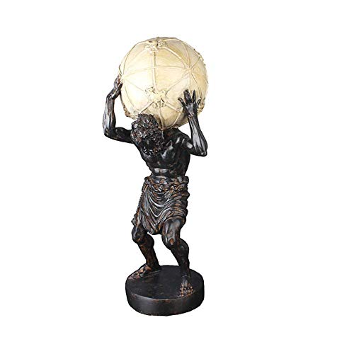 Mnjin Decoracin del hogar Atlas Estatua, Titn Griego Atlas llevando la Estatua del Mundo Dios Griego Estatua llevando la Tierra Decoracin del Escritorio del hogar 151343cm