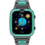 shjjyp Smartwatch Niños Llamadas 4G 4G Reloj Inteligente Niño Y Niña GPS Localizador Y Llamadas Bidireccionales Audio Y Video Chat De Voz Impermeable Cámara MP3 Musica Juegos Kid Phone 4G,Verde