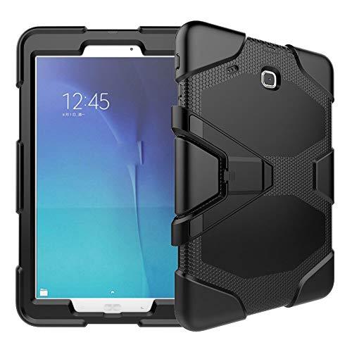 GHC PAD Fundas & Covers Para Samsung Galaxy Tab e T560 SM-T560 9,6 pulgadas, Funda de Kickstand CUBIERTA A prueba de golpes Silicon Tapa de soporte resistente al alto impacto para Samsung Galaxy Tab E