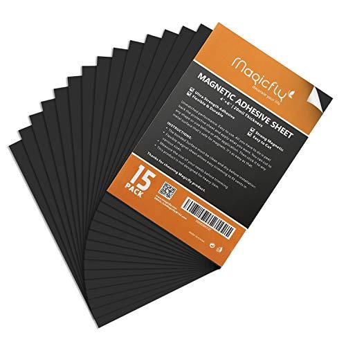 Magicfly Magnetisches Blatt A4, Selbstklebend, Magnetisch, Flexibel, Für Bilder von Handwerk DIY Schneiden Kunst, 102mm x 152mm, 15pcs