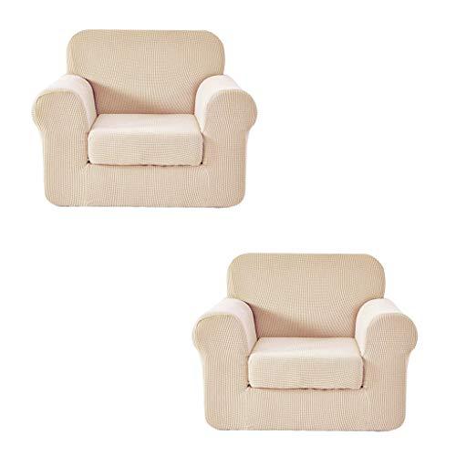 Fenteer Sofabezug Stretch Couchbezug Sesselbezug Elastisches Sesselschutz Sesselüberwurf für Ohrensessel Relaxsessel, 2 Stück