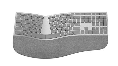 Microsoft – Surface Ergonomic Keyboard – Clavier sans fil Bluetooth ergonomique compatible Windows et macOS (Clavier AZERTY français) – Gris (3RA-00004)