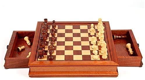 DJRH Ajedrez Internacional, Juegos de Mesa de Madera Juego de ajedrez para Adultos, niños y Adultos Tablero de ajedrez de ajedrez Conjunto de Juegos de ajedrez. ( Size : Medium )