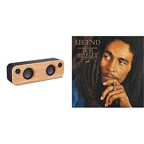House of Marley Get Together Mini Enceinte Bluetooth Portable   À Partir de Matériau Rewind Écologique, Bambou et Aluminium Recyclable, Autonomie 10h, Caissons de Basses 6.35cm, Noir & Legend