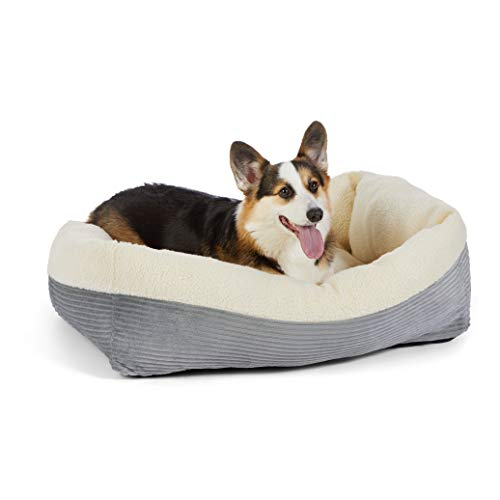 Amazon Basics Rectangle Self Warming Pet Bed For Cat or Dog, 35 x 11 x 27 Inches