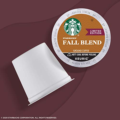 Starbucks Medium Roast K-Cup Coffee Pods — Fall Blend for Keurig Brewers — 6 boxes (60 pods total)