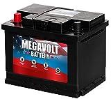 Megavolt Lead Acid Flooded Car Battery BCI 47 DIN H5/L2, 12V 60AH CCA600 CA715 (47-70-600)